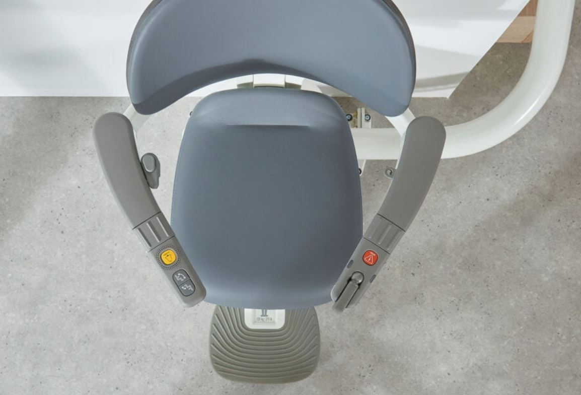 Top View Curved Flow X Stairlift